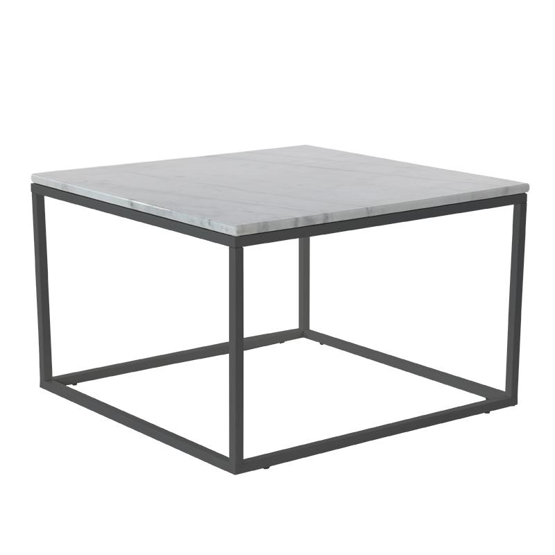 Accent soffbord kvadrat 75x75 Vit/svart